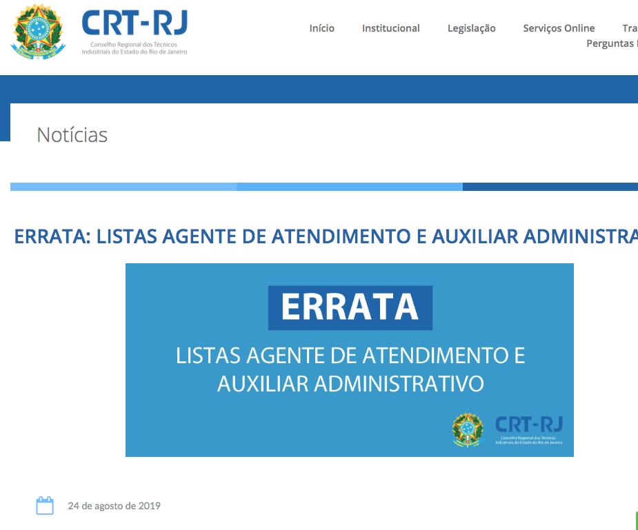 Errata Listas de Agente de Atendimento e Auxiliar Admnistrativo no Site (Clique Aqui)
