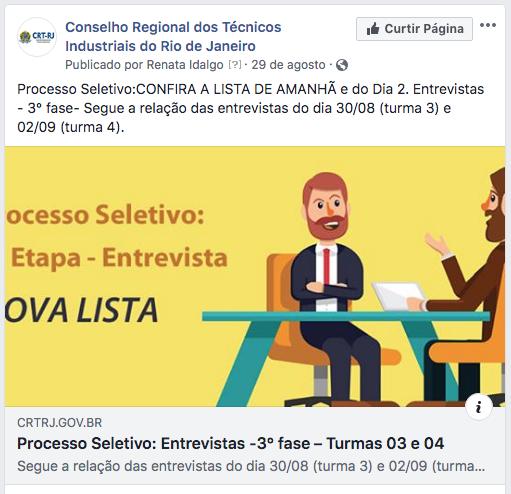 Nova Divulgação Nova Lista Entrevistas 3ª Etapa Nas Redes Sociais (Clique Aqui)