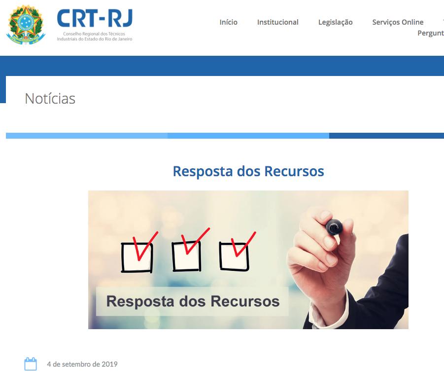 Resposta dos Recursos no site (Clique Aqui)