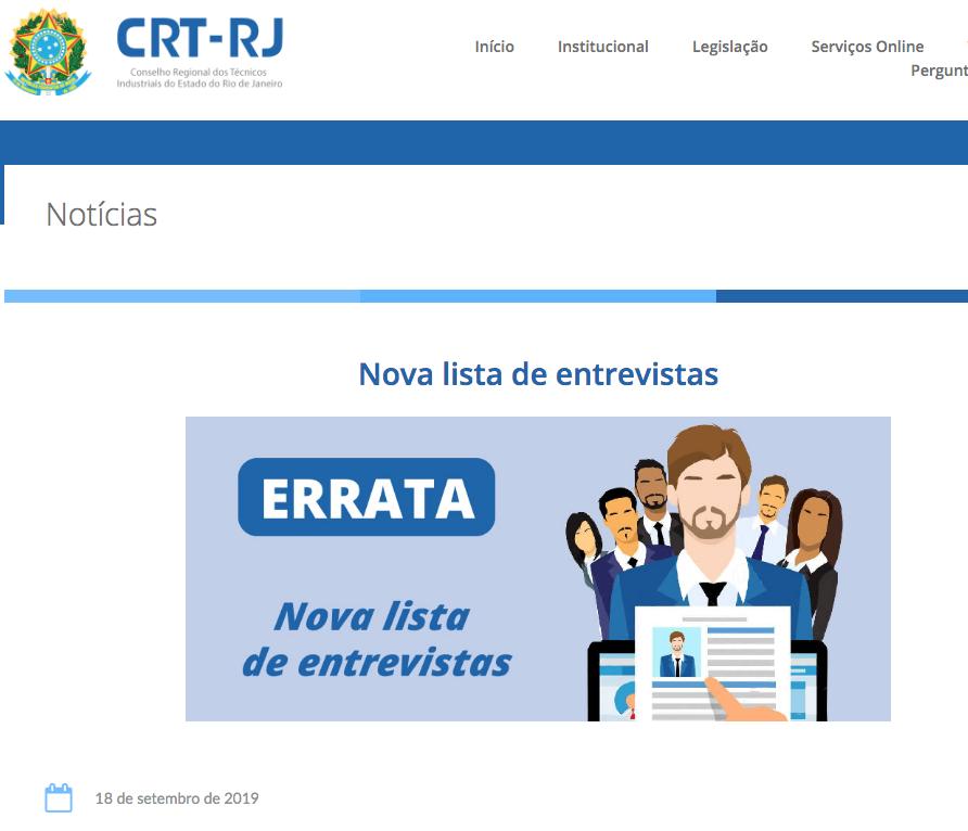 Errata Nova Lista de Entrevistas no site (Clique aqui)