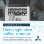 CRT-RJ usa tecnologia para manter serviços durante crise do coronavírus