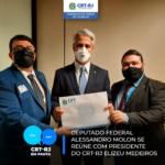 Presidente do CRT-RJ Elizeu Medeiros é recebido pelo Deputado Alessandro Molon