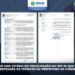 Mais uma vitória da Fiscalização do CRT-RJ para beneficiar os Técnicos Industriais, em Cordeiros - RJ